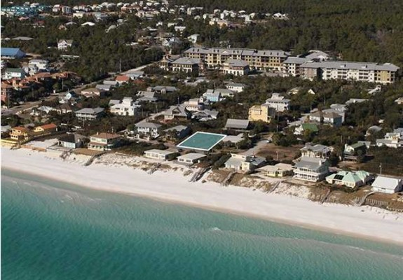 This amazing lot is one row back from the Gulf of Mexico in Blue Mountain Beach, FL